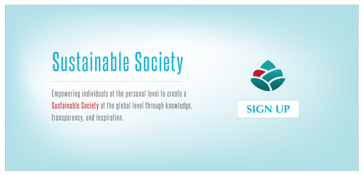 Sustainable Society Sign up @ Sustainable.Media