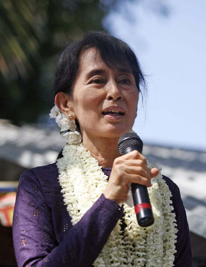 Suu Kyi (burma) Was Under House Arrest For 15 Yrs For Her Pre-democracy Campaigning.