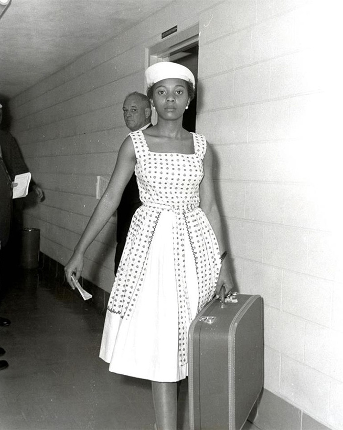 Voting Activist Annie Lumpkins At The Little Rock City Jail (10 July, 1961)