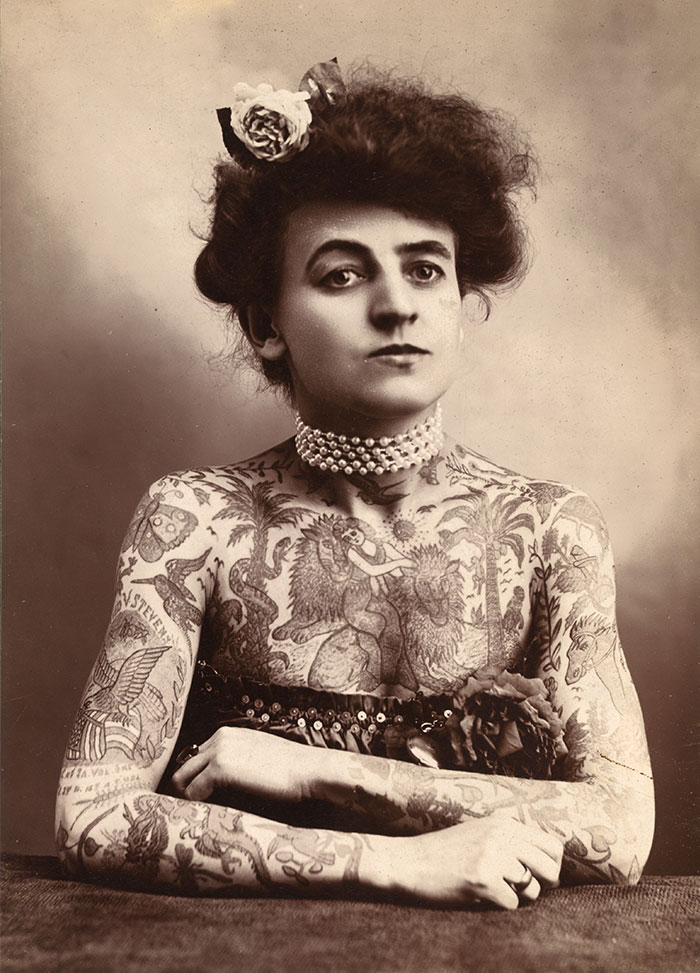 Maud Stevens Wagner Was The First Known Female Tattoo Artist In The United States (1907)