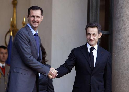 assad and sarkozy